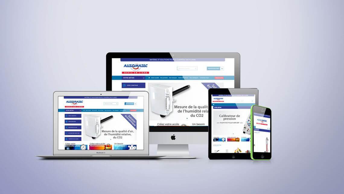 Site B to B de demande de devis en ligne par Kagency Nantes