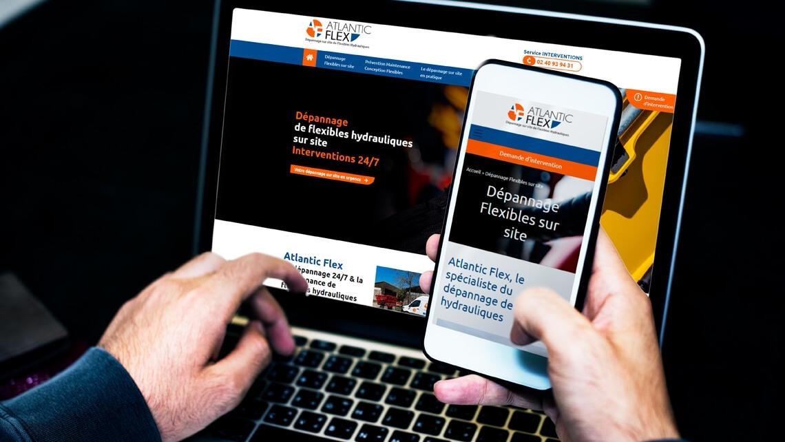 Création du site web d'Atlantic Flex par Kagency Nantes