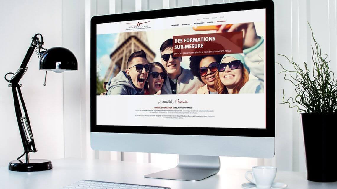 Le Cabinet Amplitude, conseil et formation en relations humaines a choisi Kagency pour la refonte de son site web.