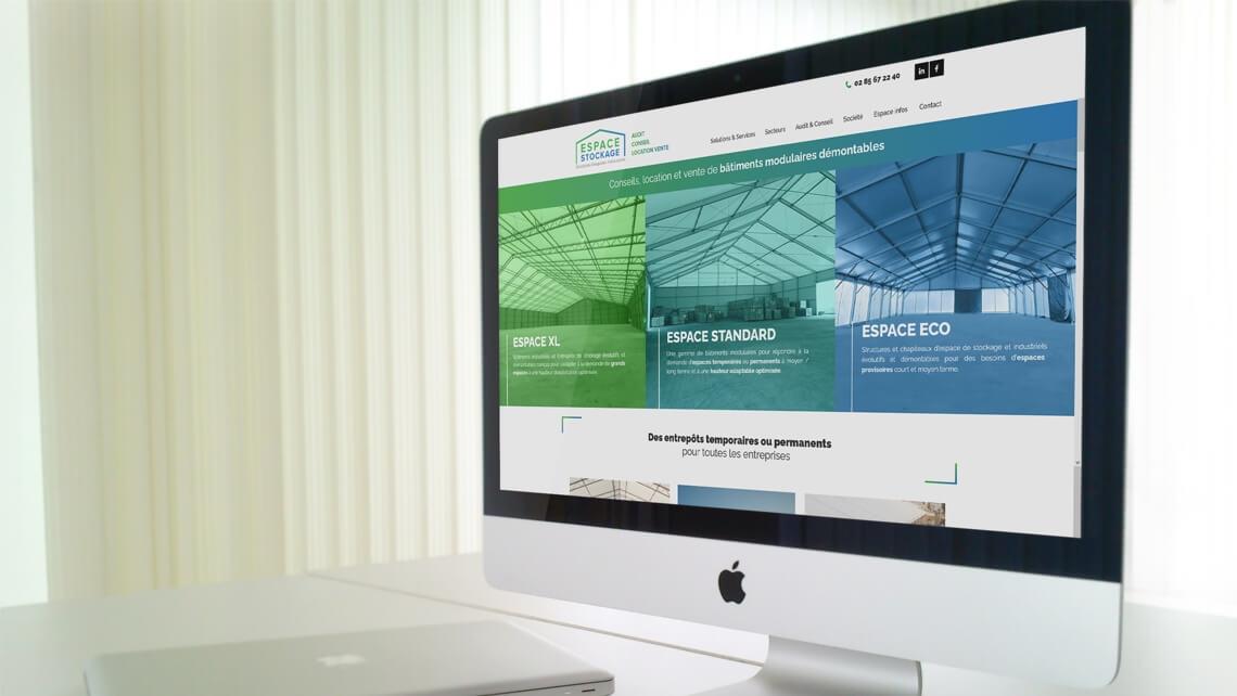 Création du site web d'ESPACE STOCKAGE par Kagency Nantes