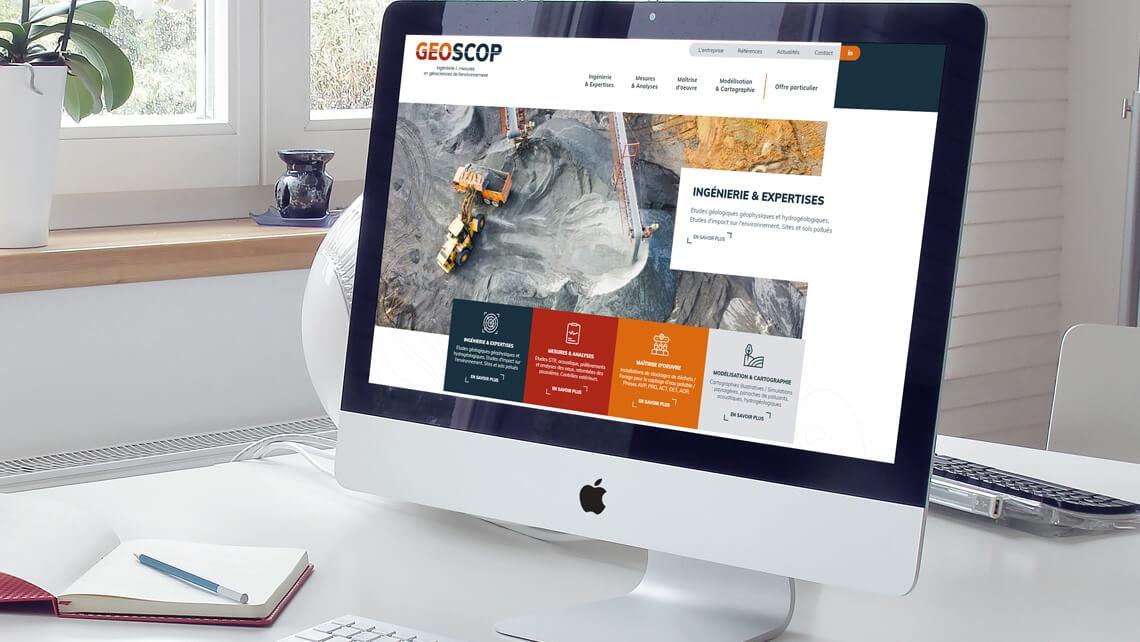 Création du nouveau site web de GEOSCOP par Kagency Nantes
