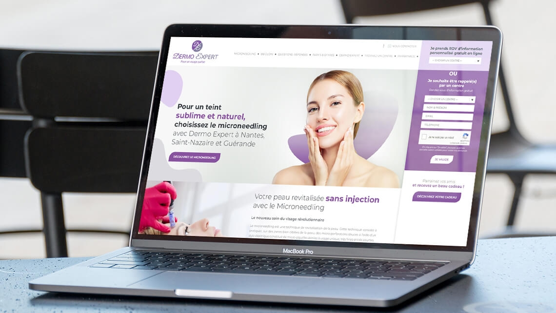 Création du site internet de Dermo Expert par Kagency Nantes
