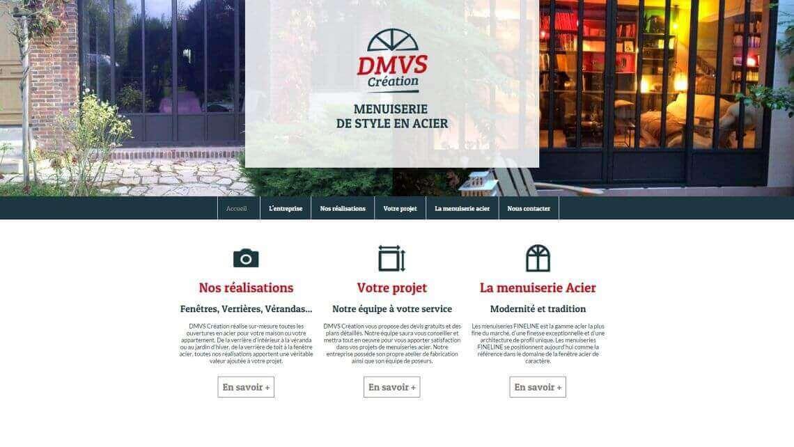 Création du site internet de DMVS Création Acier par Kagency Nantes