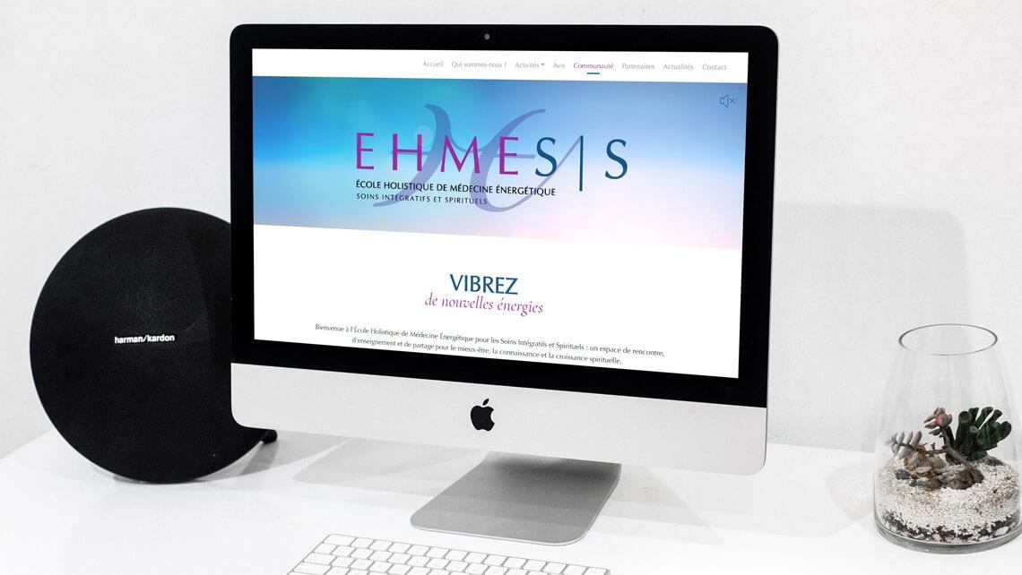 Création du site internet d'Ehmesis par Kagency Agence Web Nantes