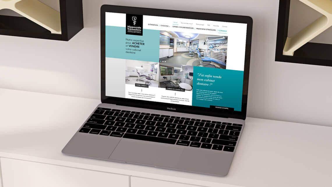 Création du site web d'Hippocrate Transactions Nantes par Kagency.