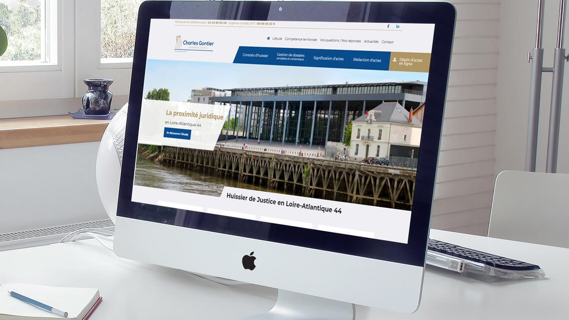 Refonte du site web Huissier 44 par Kagency Nantes