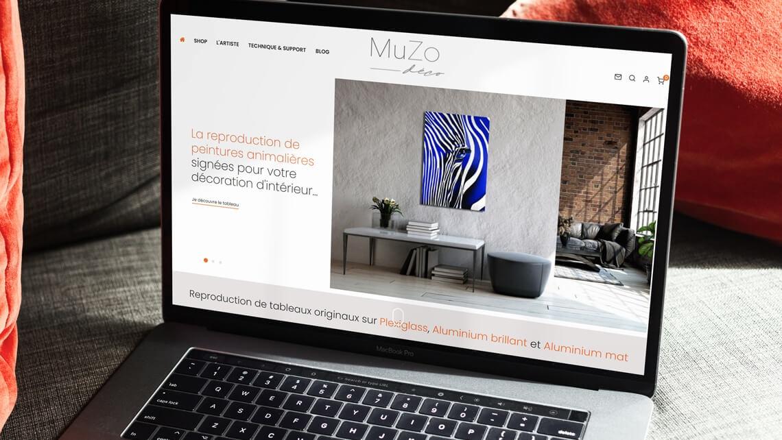 Création du site e-commerce de MuZo Déco par Kagency Nantes