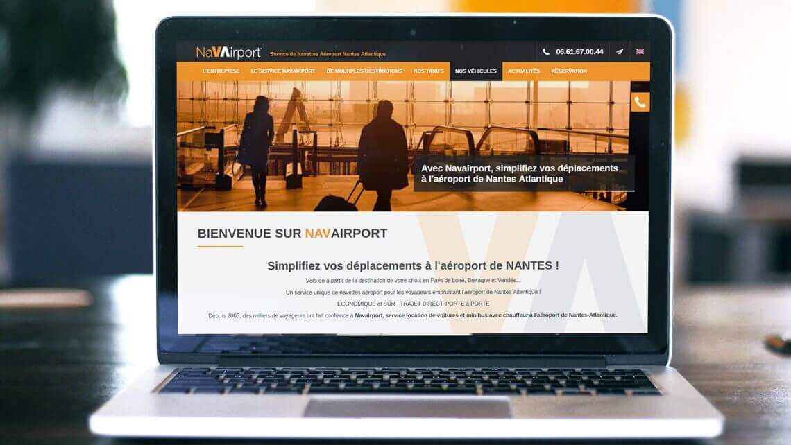 Création du site internet de Navairport Nantes - La Baule par Kagency