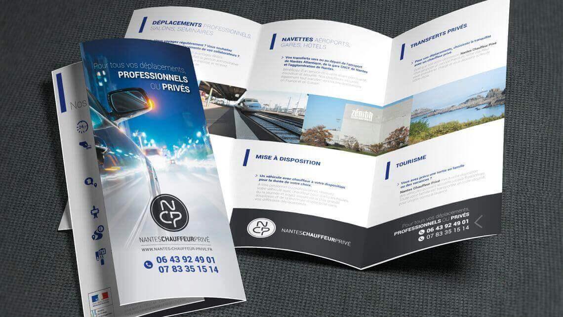 Création du flyer 3 volets pour Nantes Chauffeur Privé par kagency