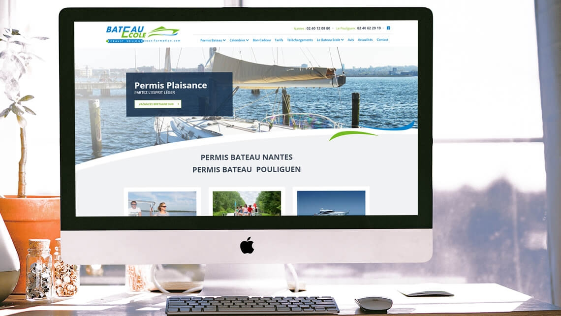 Création du nouveau site web d'Océan Formation