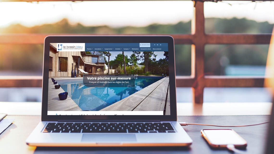 Création du site web Le Bassin Bleu par Kagency Nantes