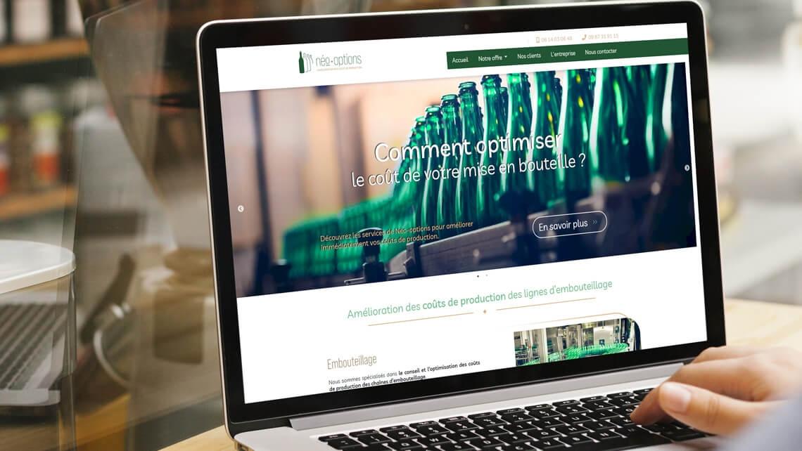 Création du site internet de Néo-Options Nantes par Kagency