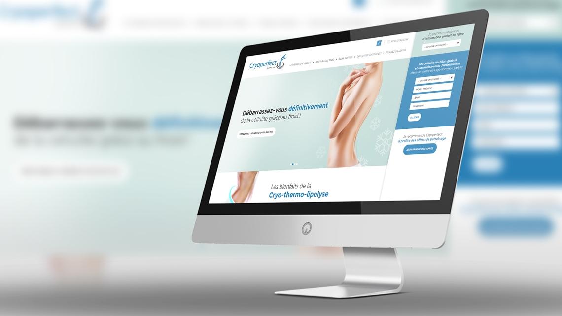 Création du site web de Cryoperfect Nantes par Kagency