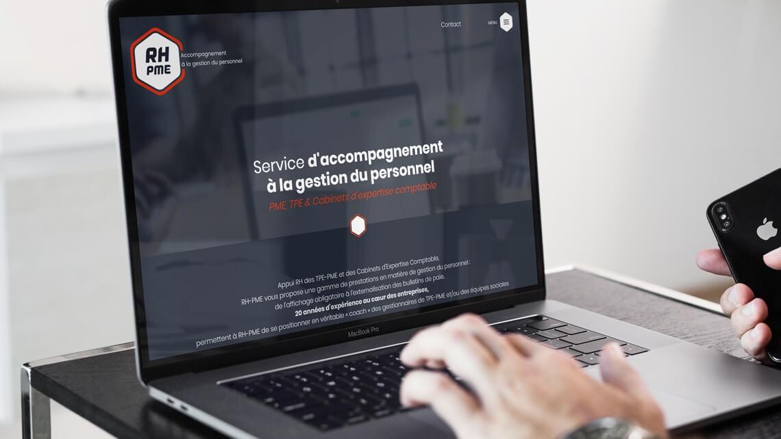 Création du site web de RH-PME Nantes par Kagency