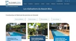 Lancement du site internet des piscines Le Bassin Bleu par Kagency Nantes