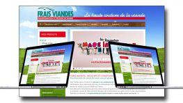 Création du site web de Frais Viandes par Kagency