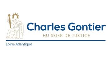 Création de logo Maître Charles Gontier, Huissier de justice par Kagency Nantes
