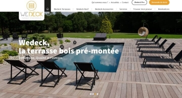 Développement Front-End du site web de WeDeck par Kagency Nantes