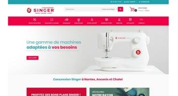 Création du site marchand pour Singer Nantes Ancenis Cholet par Kagency