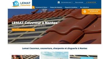 Création du site web de Lemat Couvreur par Kagency Nantes