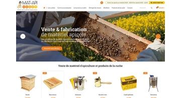 Kagency réalise le site e-commerce Prestashop de Mat Apiculture Nantes