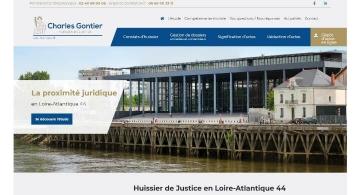 Création du site web Huissier44 et du logo par Kagency Nantes