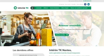Web design du site internet Interim TK par Kagency Nantes