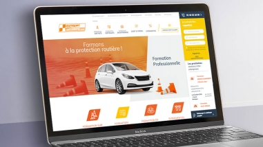Création du nouveau site web d'Extrême Sécurité par Kagency Nantes