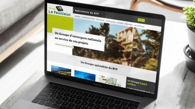 Refonte du site web du Groupe Le Feunteun par Kagency Nantes