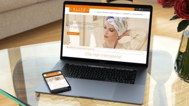 Création du site e-commerce d'Elite Hair International Paris apr Kagency Nantes
