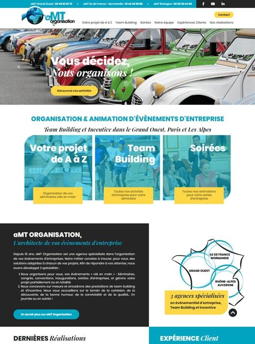 Création de la nouvelle version du site web d'AMT Organisation par Kagency Nantes