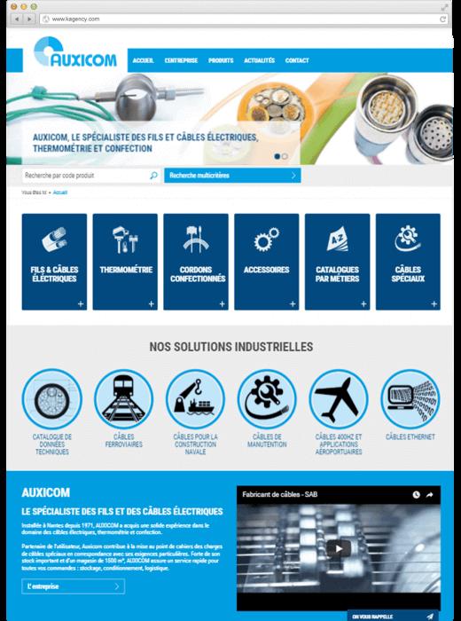 Création du nouveau site internet d'Auxicom par Kagency Nantes