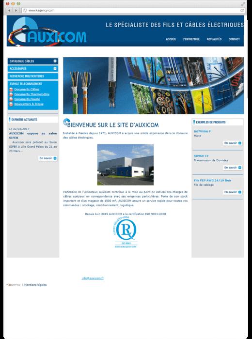 Refonte du site web Auxicom Nantes par Kagency