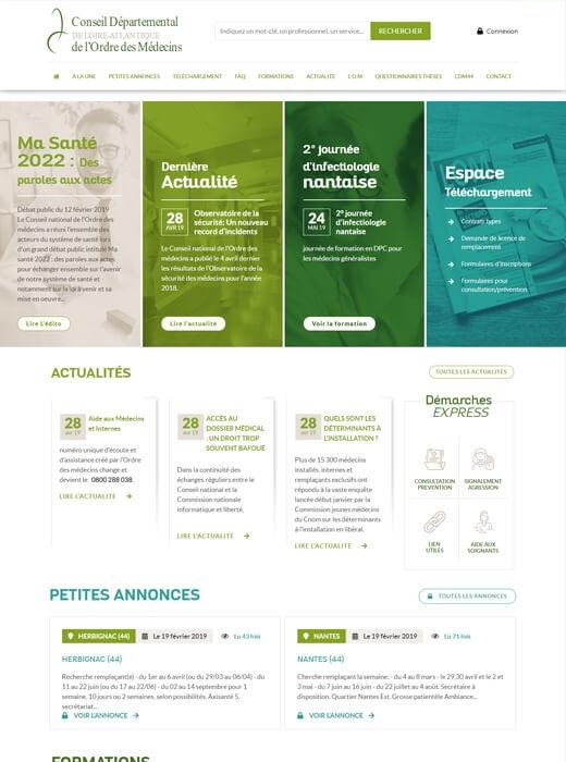 Création de la nouvelle version du site du CDM 44 par Kagency Nantes