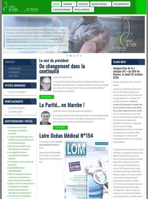 Refonte de site web responsive Conseil de l'Ordre des Médecins de Loire-Atlantique - Nantes.