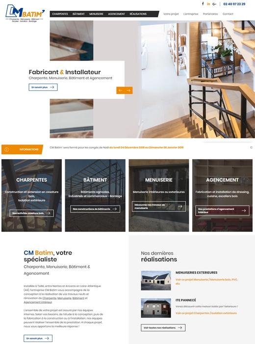 Création du nouveau site web de CM Batim par Kagency