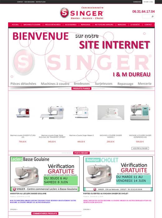 Création du nouveau site marchand de la concession Singer Nantes, Ancenis, Cholet par Kagency