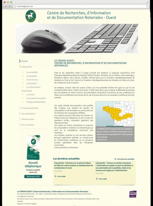 Refonte du site web du Cridon Ouest