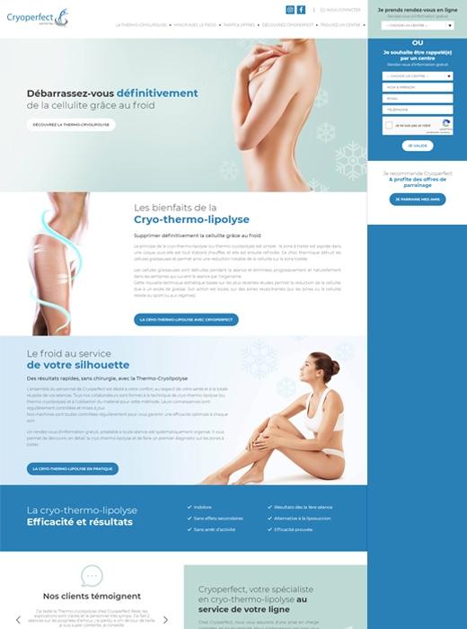 Création du nouveau site web de Cryoperfect Nantes par Kagency