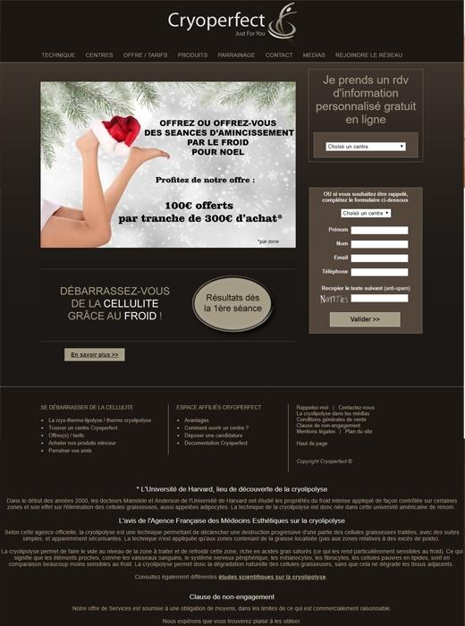 Kagency Nantes en charge de la refonte du site web de Cryoperfecrt