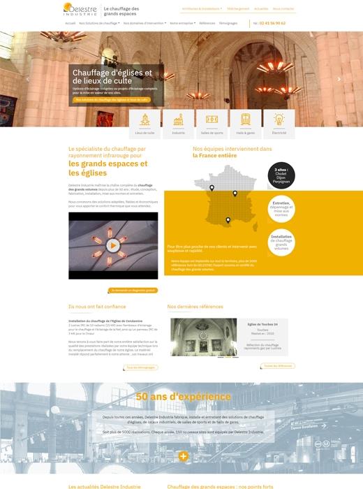 Création du nouveau site web et référencement naturel pour Delestre Industrie