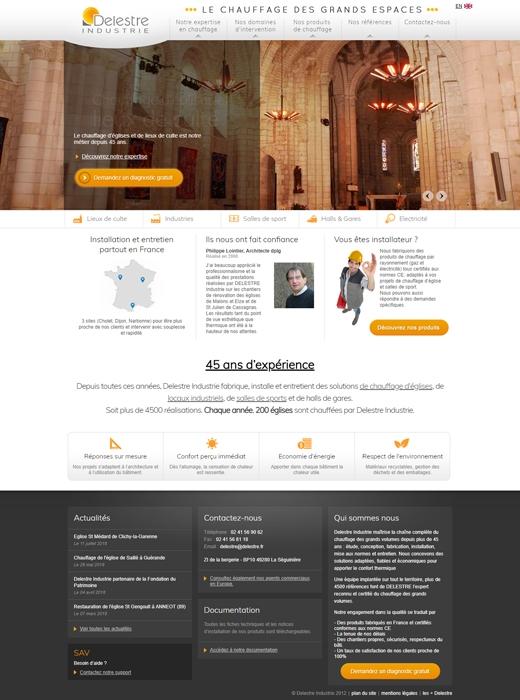 Delestre Industrie choisit Kagency pour la refonte de son site internet