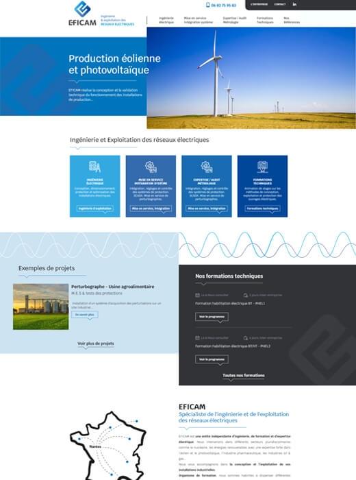 Création du nouveau site web d'EFICAM par Kagency Nantes