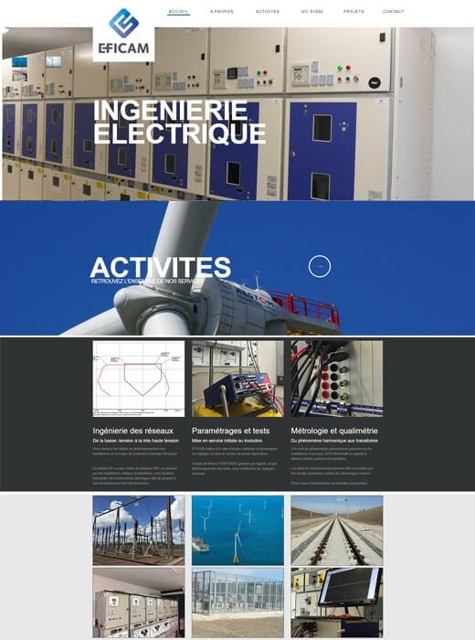 Refonte du site internet d'EFICAM par Kagency Nantes