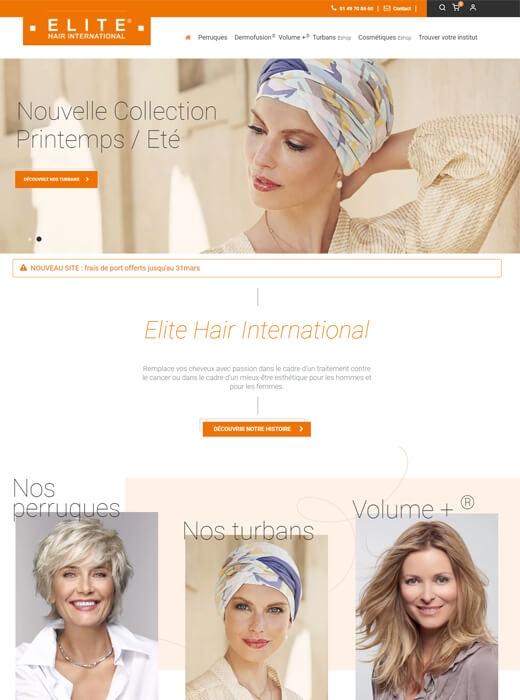 Refonte du site web d'Elite Hair International par Kagency Nantes