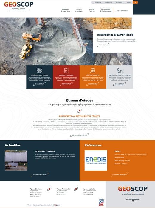 Création du site web de GEOSCOP par Kagency Nantes