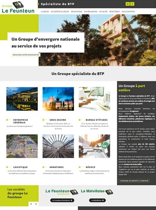 Kagency Nantes en charge de la création du nouveau site web du Groupe Le Feunteun