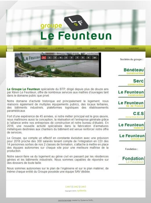 Le Groupe Le Feunteun a confié la refonte de son site web à Kagency Nantes
