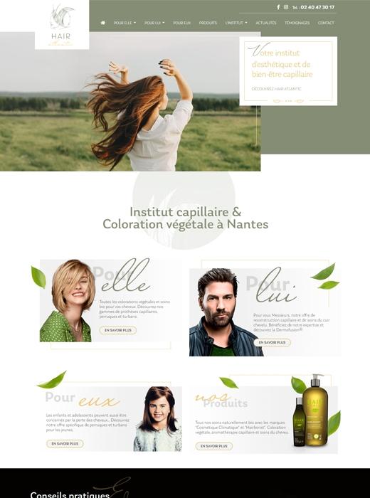Création du nouveau site internet d'Hair Atlantic Nantes par Kagency