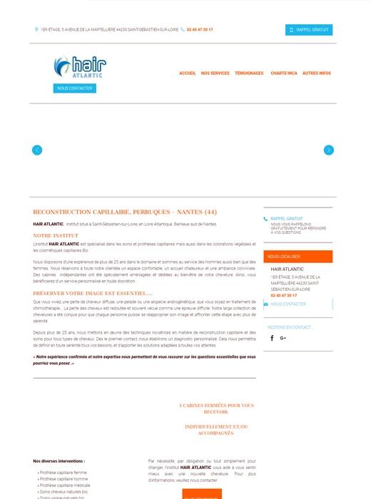 Refonte du site web d'Hair Atlantic Nantes par Kagency